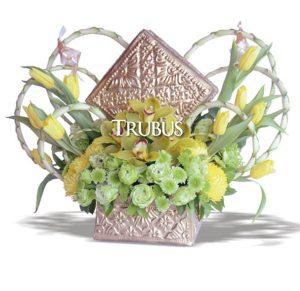 VRangkaian bunga komersial karya Amanda Iskandar.
